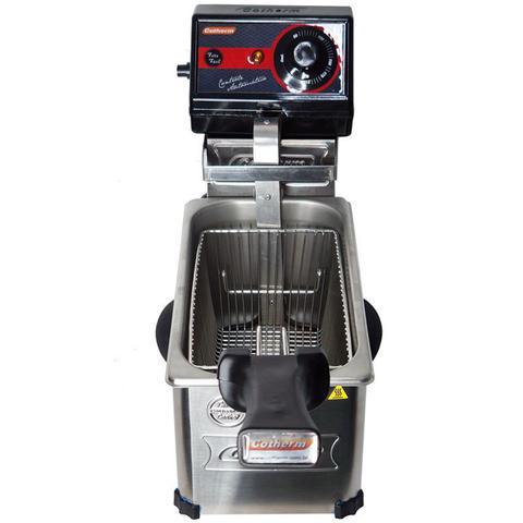 Imagem de Fritadeira Elétrica com Óleo 3 Litros 1 Cuba Industrial Profissional Cotherm Frita Fácil Inox