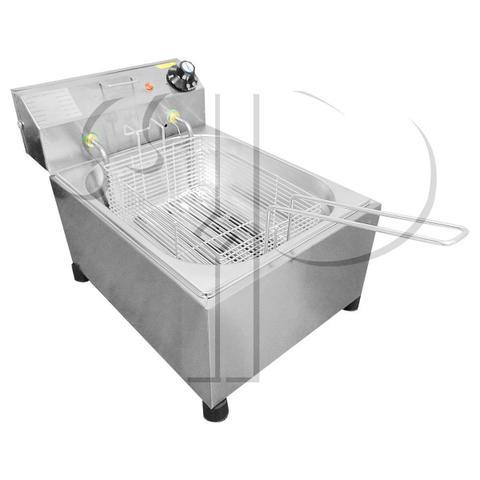 Imagem de Fritadeira Elétrica Com Óleo Industrial 5 Litros Aço Inox 3000W 220V ou 2500W 110V