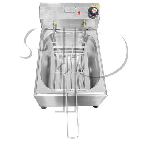 Imagem de Fritadeira Elétrica Com Óleo Industrial 7 Litros Aço Inox 3000W 220V ou 2500W 110V