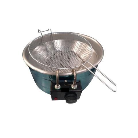 Imagem de Fritadeira Elétrica Industrial  tacho 3,5 a 5 Litros INOX Redonda Produto com Garantia 110V