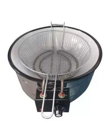 Imagem de Fritadeira Elétrica Inox Redonda Tacho 5 Litros BONI