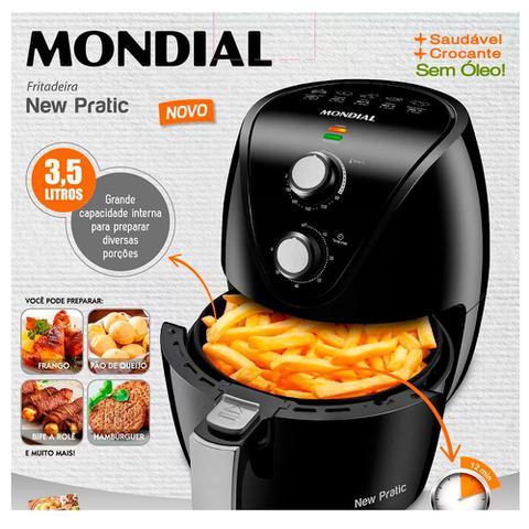 Imagem de Fritadeira Elétrica Mondial Air Fryer New Pratic 127V 3,5 Litros