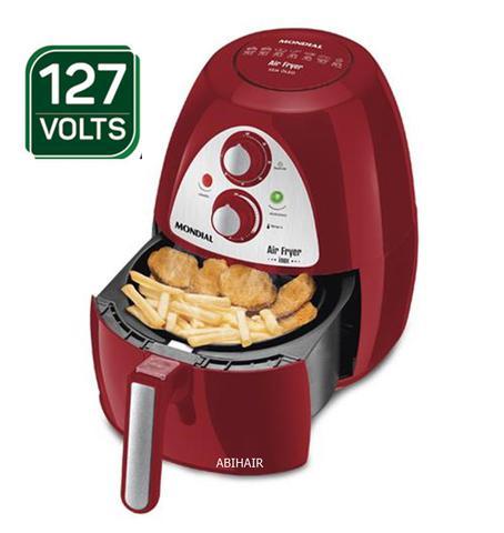 Imagem de Fritadeira eletrica mondial Sem Óleo Air Fryer Inox Red Premium AF-14  - Vermelho/ Inox 110V