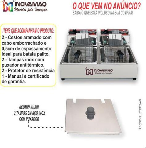 Imagem de Fritadeira Elétrica Profissional 2 Cubas - FM-10L - 220V - Inovamaq