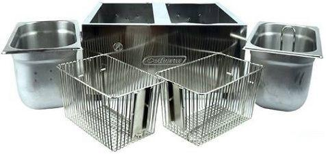 Imagem de Fritadeira Elétrica Profissional Cuba Dupla 2 litros cada Cotherm