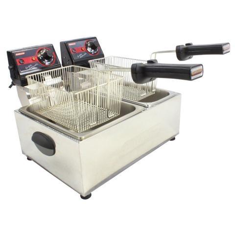 Imagem de Fritadeira Elétrica Profissional Frita Fácil 2 Cubas de 3 e 5 litros Cotherm