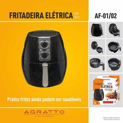 Imagem de Fritadeira elétrica sem oléo Agratto air fryer AF01 2,5L 1200W 110v