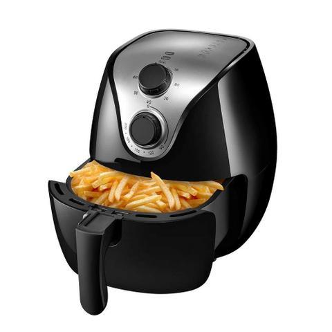 Imagem de Fritadeira Elétrica sem Óleo Air Fry Multilaser Gourmet 4L 1500W Preta