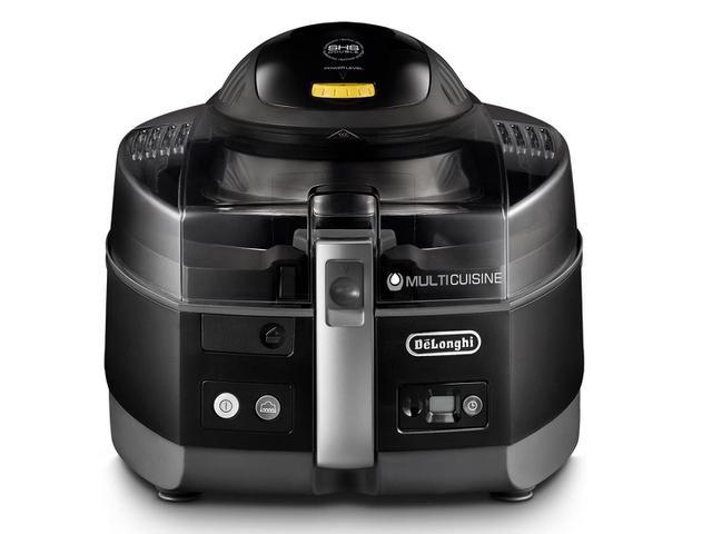 Imagem de Fritadeira Elétrica Sem Óleo/Air Fryer DeLonghi Multicuisine Smart FH1363 Preta 5,2L com Timer
