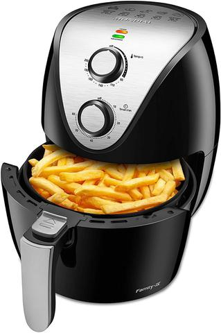 Imagem de Fritadeira Elétrica Sem Óleo - Air Fryer - Family IV Preta/Inox - 3,5L - Mondial