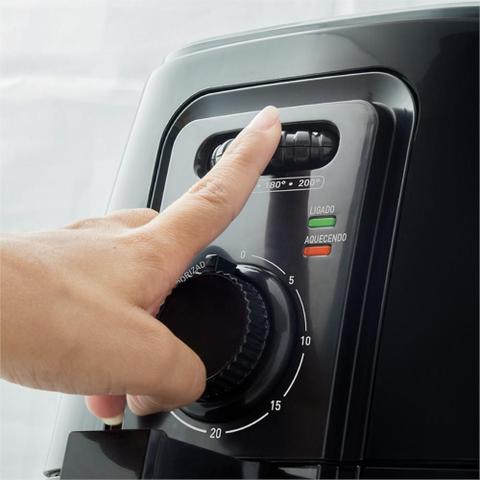 Imagem de Fritadeira Elétrica Sem Óleo/Air Fryer Mallory Grand Smart 4L 1200W com Timer Preta