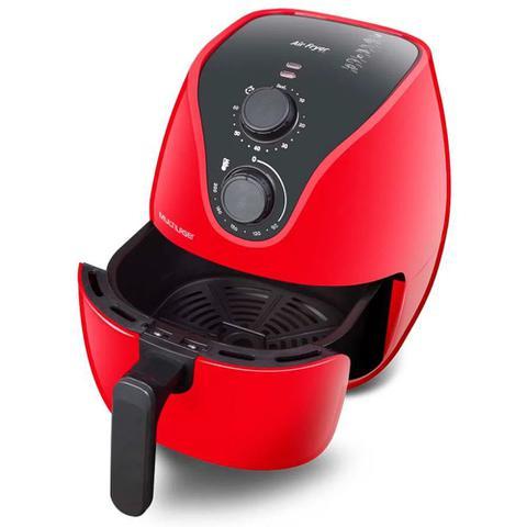 Imagem de Fritadeira Elétrica sem Óleo Multilaser Air Fryer Gourmet 4 Litros Vermelha - 1500W