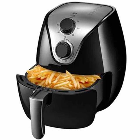 Imagem de Fritadeira Elétrica Sem Óleo Multilaser Gourmet Air Fryer 4 L Preta 127v