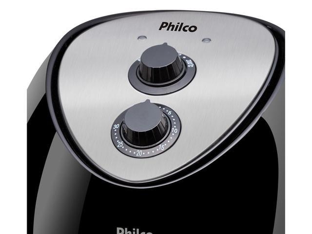 Imagem de Fritadeira Elétrica sem Óleo Philco Air Fry Saúde Inox PH3.2L com Timer Preta e Prata