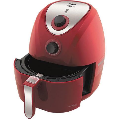 Imagem de Fritadeira Elétrica sem Óleo Philco Air Fry Saúde Inox PH3.2L com Timer Vermelha e Prata