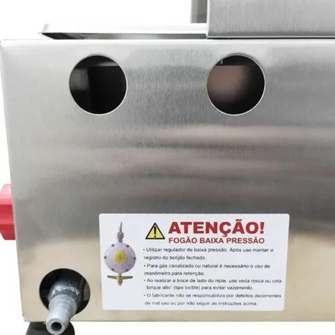 Imagem de Fritadeira Fritar 1 Cuba Inox 5 Litros À Gás Profissional Salgado Pastéis Porções