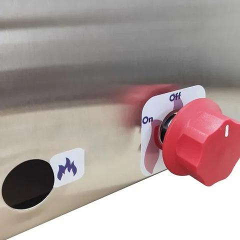 Imagem de Fritadeira Fritar 2 Cuba Inox 5 Litros À Gás Profissional Salgado Porções Pastéis