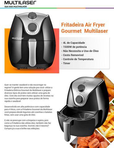 Imagem de Fritadeira Sem Óleo Multilaser Air Fryer 4 L Gourmet Preta