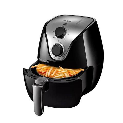 Imagem de Fritadeira Sem Óleo Multilaser Air Fryer Gourmet, 2,5 Litros, Preta