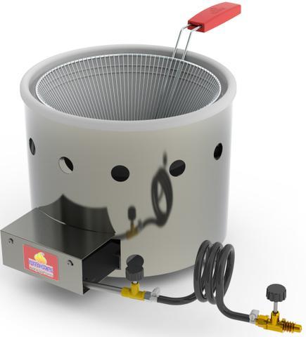 Imagem de Fritadeira Tacho 3 Litros a Gás Aço Inox Frituras Salgados