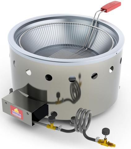 Imagem de Fritadeira Tacho para Salgados Pastel 7 L Aço Inox a Gás