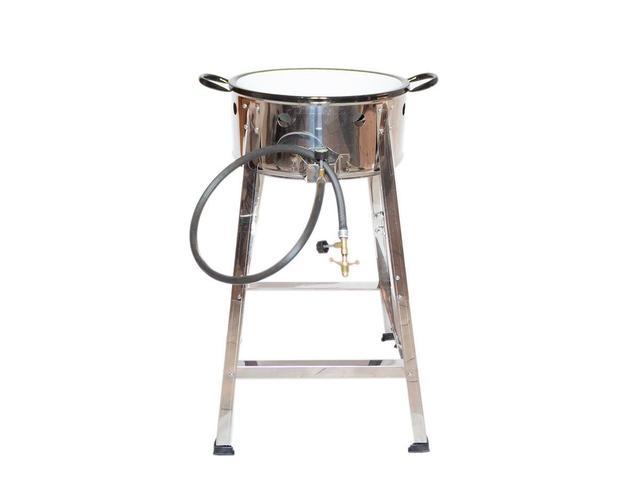 Imagem de Fritador Fogão Pasteleiro INOX A Gás Com Tacho 22