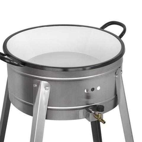 Imagem de Fritador Pasteleiro a Gás Cefaz Alta Pressão com Tacho N 20 Esmaltado FPI-20