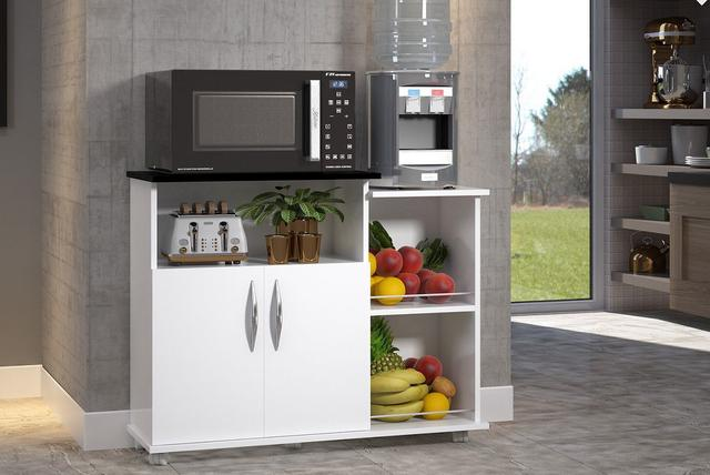 Imagem de Fruteira Balcão 2 Portas Chão Cozinha Ou Preto