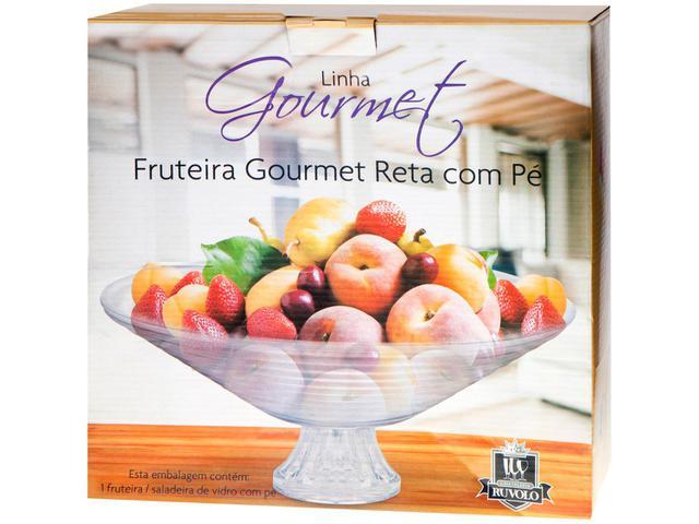 Imagem de Fruteira de Mesa de Vidro Ruvolo Redonda Goumert