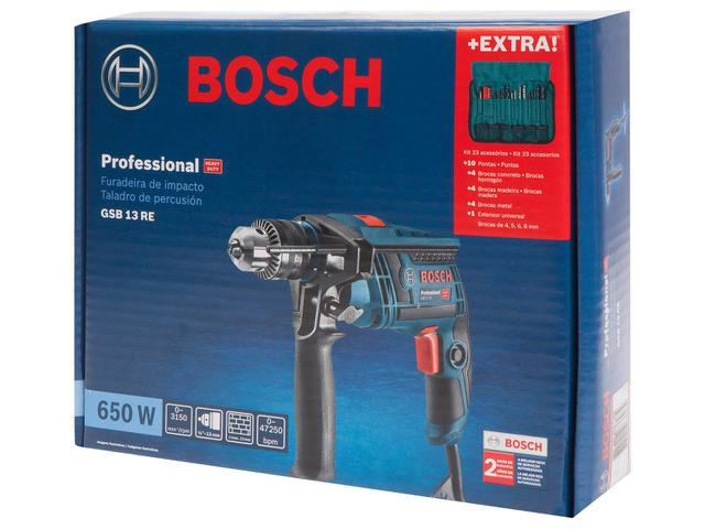 """Imagem de Furadeira de Impacto Bosch 650W Velocidade 1/2"""""""