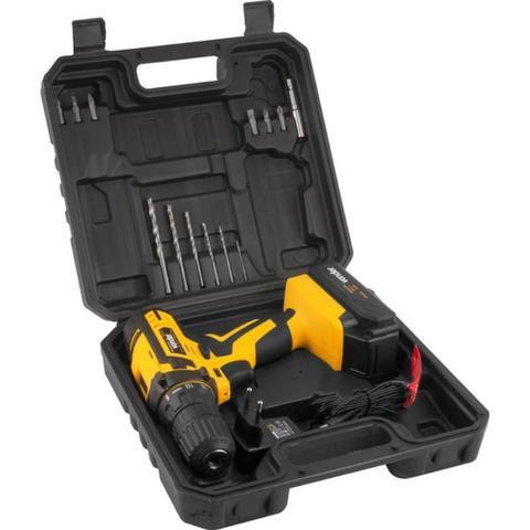 Imagem de Furadeira e Parafusadeira à Bateria 12V BIVOLT PFV 012 com Kit de Brocas e Bits VONDER