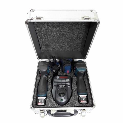 Imagem de Furadeira e Parafusadeira GSR 120-LI + Chave de Impacto GDR 120-LI com Maleta de Aluminío + 2 Kits B