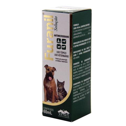 Imagem de Furanil Spray 60ml Infecções Pele Cães e Gatos - Vetnil