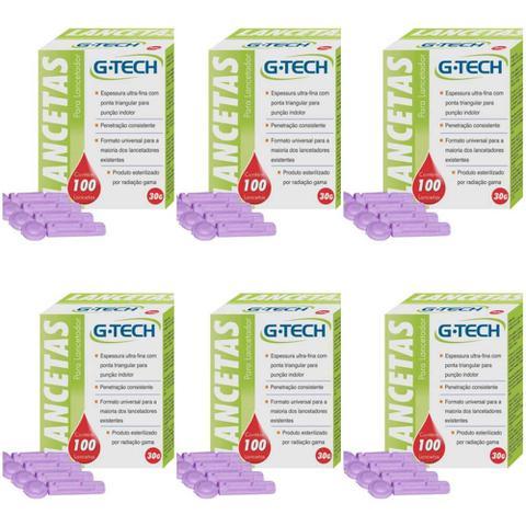 Imagem de G Tech Lancetas P/ Aparelho Medidor de Glicose C/100 (Kit C/12)