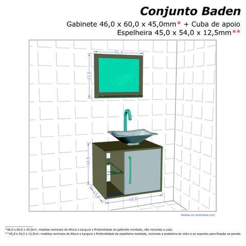 Imagem de Gabinete Armario Banheiro Sena Madeira/Madeira3D Pia Preta