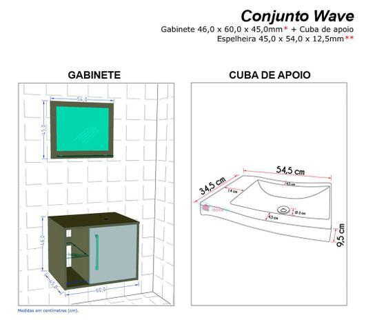Imagem de Gabinete Armário para Banheiro com Pia Wave