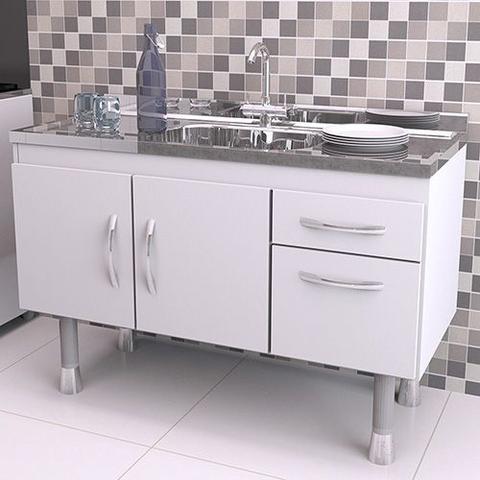 Imagem de Gabinete Balcão para Pia de Cozinha 1,20m SLIM