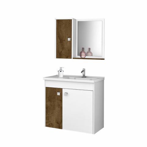 Imagem de Gabinete Banheiro com Pia Munique Branco_Avelã