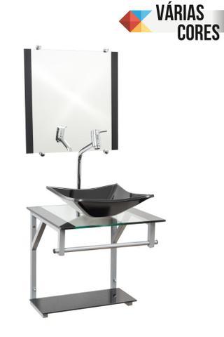 Imagem de Gabinete Com Cuba Para Banheiro De Vidro 40cm - Cores