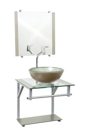 Imagem de Gabinete Com Cuba Para Banheiro De Vidro 40cm - Havai