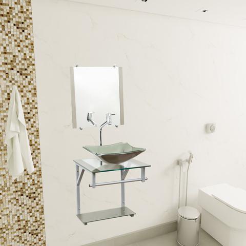 Imagem de Gabinete Com Cuba Para Banheiro De Vidro 40cm - Madri
