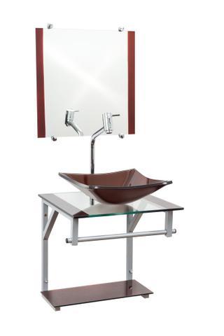 Imagem de Gabinete Com Cuba Para Banheiro De Vidro 40cm - Roma