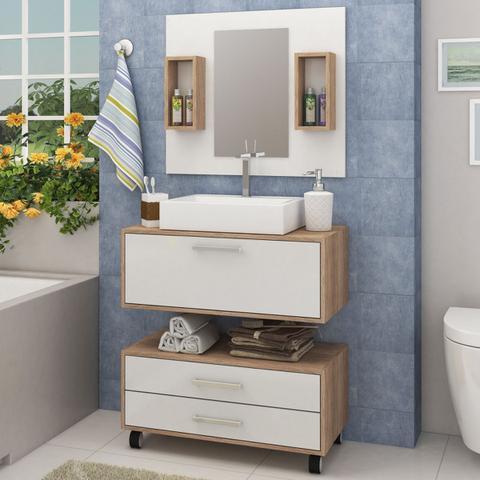 Imagem de Gabinete de Banheiro com Cuba GB11 -  Fellicci Móveis