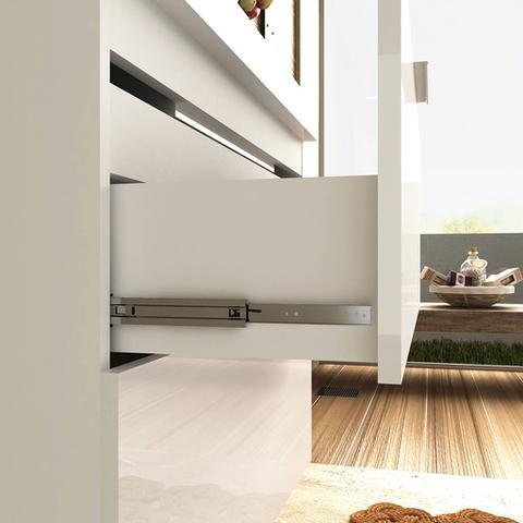 Imagem de Gabinete de Banheiro Suspenso Branco Brilho MDF 60cm Lilies Móveis