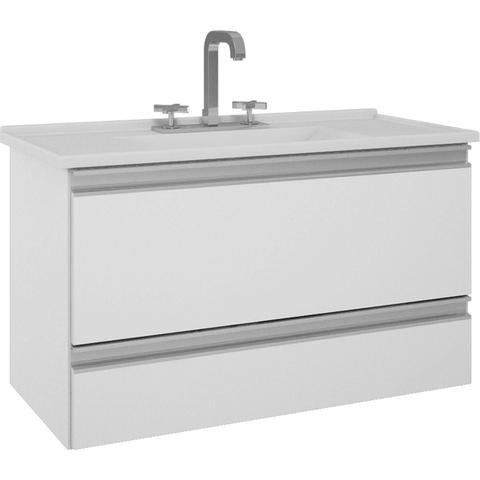 Imagem de Gabinete de Banheiro Treviso - Branco
