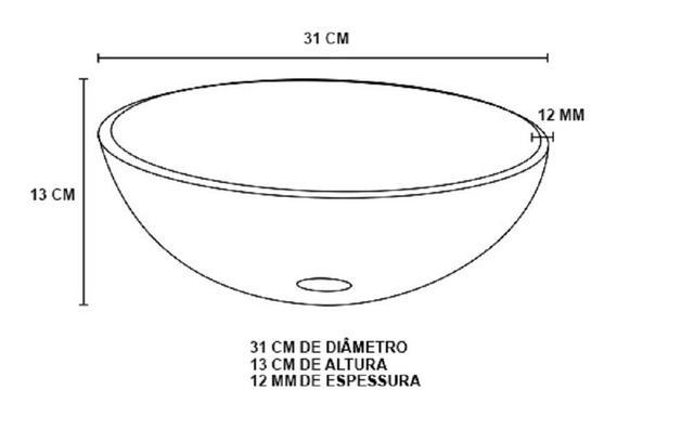 Imagem de Gabinete de vidro 40cm ap com cuba redonda - prata