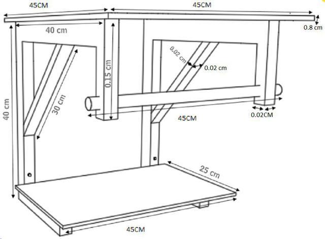 Imagem de Gabinete de vidro 45cm iq inox com cuba quadrada - branco