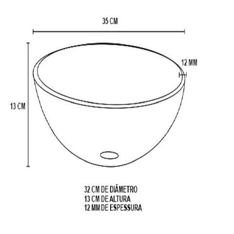 Imagem de Gabinete de vidro 45cm iq inox com cuba redonda - preto