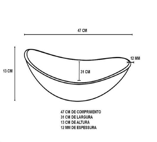 Imagem de Gabinete de vidro 60cm ac com cuba oval - incolor