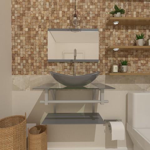 Imagem de Gabinete de Vidro 60cm para Banheiro Sérvia